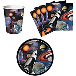 BirthdayExpress Space Blast Snack Pack Kit for 16