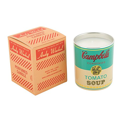 (Andy Warhol Scented Campbell's Soup Can Candle — Turquoise / Yellow (Pop Wood Scent))