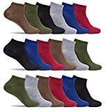 Mens 18 Pack of Extra Lightweight Low Cut Ankle Socks