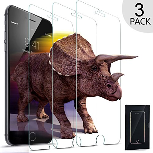 UTHMNE 3-Pack iPhone 6s / 6 Screen Protector Glass, 0.3MM Slim And 9H Hardness Bubble Free, Anti-Fingerprint, Oil Stain & Scratch Coating (Mobile Guard)