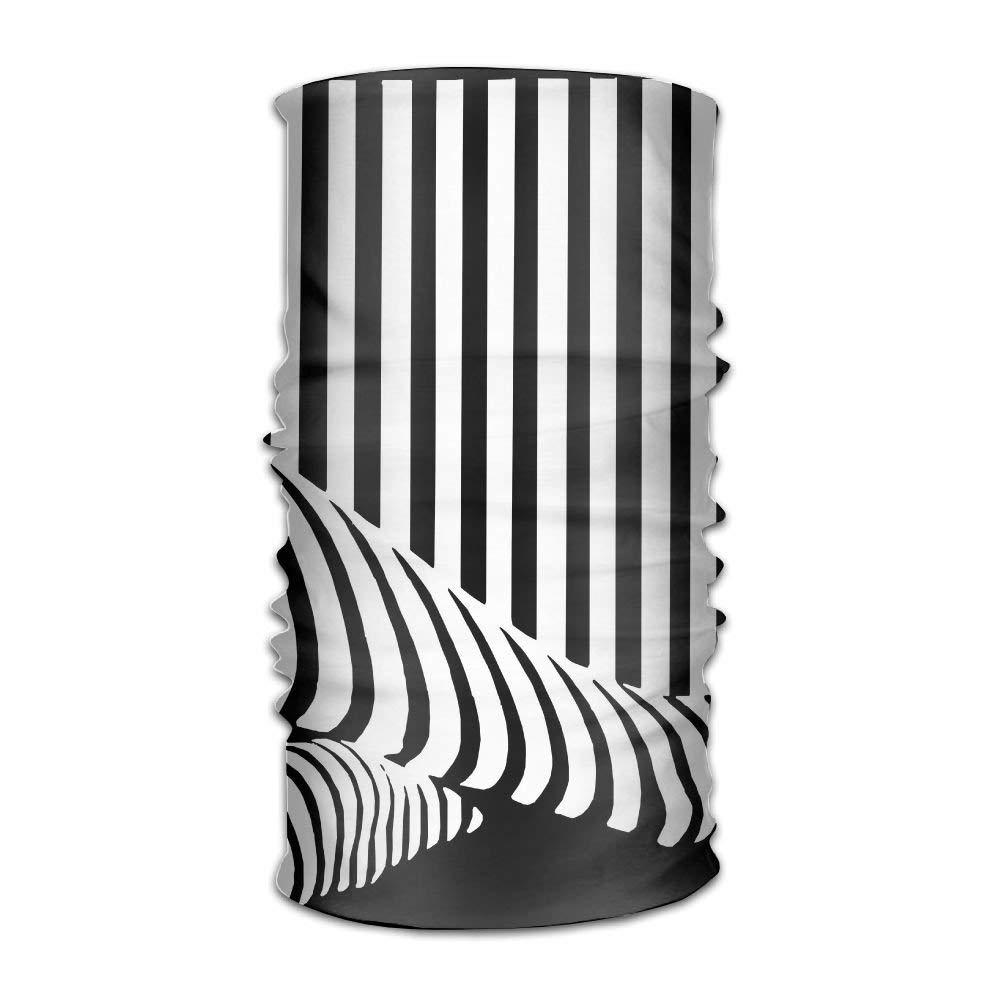 Magic Headwear Black White Stripe Outdoor Scarf Headbands Bandana Mask Neck Gaiter Head Wrap Mask Sweatband