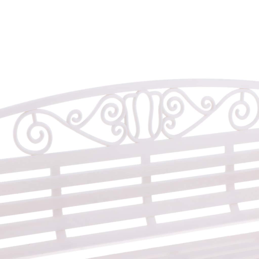 Non brand Sharplace Panchine da Esterno,Banco da Giardino in Plastica 22 x 8,8 x 14 cm Bianca
