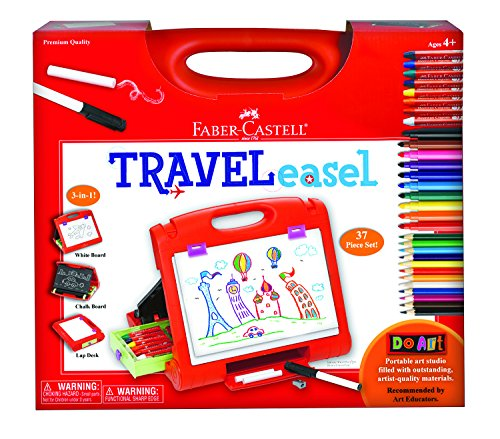 Faber Castell Case - Faber Castell Do Art Travel Easel - Portable Art Kit for Kids