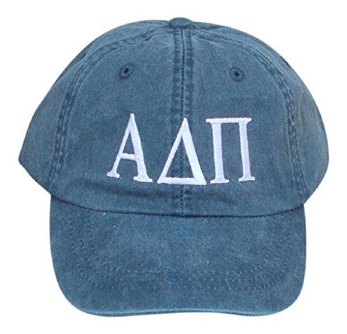 Mega Greek Womens Alpha Delta Pi Baseball Cap Navy Blue