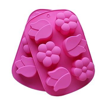 DIY molde de silicona para jabón hecho a mano, para tartas, chocolate, gelatina