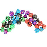 Outee 5 x 7 (35 Pieces) Polyhedral Dice Two Colors Dungeons and Dragons DND MTG RPG D20 D12 D10 D8 D6 D4 Game Complete Dice Sets with Free Pouches