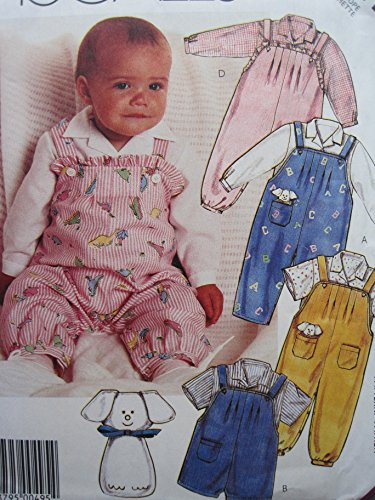McCall's Pattern 3341 Infants' Overalls, Short-All, Shirt and Toy Sizes S-M-L ()