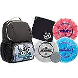 Dynamic Discs Disc Golf Starter Set | Camo/Black Cadet Disc Golf Bag Included | 17+ Disc Capacity | Prime Burst Disc Golf Frisbee Set Included | Putter, Midrange, Driver | 170g plus | Colors will vary