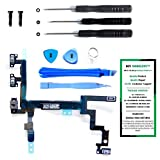 proximity sensor iphone 4 - iPhone 5 Power Button, Proximity Light Sensor, and Microphone Flex Cable Replacement Kit with DM Tools and Instructions Included - DIYMOBILITY