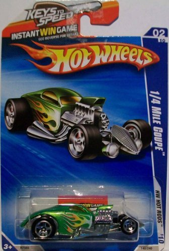 2010 Hot Wheels Green 1/4 Mile Coupe 140/240 1:64 Scale