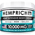 Hemp Cream - 3000 Mg - Made in USA - Back, Neck, Knee Pain Relief - Natural Hemp Oil Cream - Anti Inflammatory - Fast Sore Muscle & Joint Relief - Arnica, MSM, EMU Oil & Glucosamine - Non-GMO