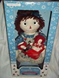 Raggedy Ann Holiday Porcelain Keepsake Doll with Mini Raggedy Ann & Raggedy Andy