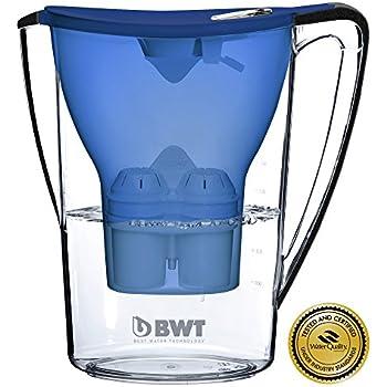 bwt water filter pitcher blue