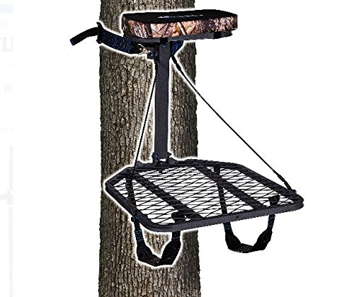 Ameristep Hang-On Treestand with Realtree Seat Cushion, Backpack Straps and Full-Body Safety Harness Includes Safety DVD - Ameristep Full Body Safety Harness
