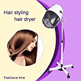 Mefeir Upgraded 1000W Professional Stand Up Hair Dryer with Swivel Hood,Portable Rolling 6.6lbs Iron Plate,Adjustable Timer Temperature, Hair Product for Beauty Salon Home Use
