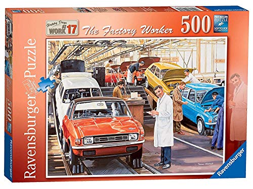 - Ravensburger Happy Days at Work No.17 - The Factory Worker 500pc Jigsaw Puzzle