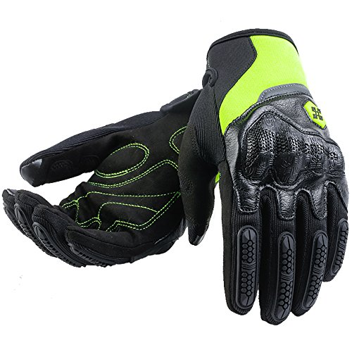 Bike Dirt Riding - ILM ATV BMX MX MTB Cycling Riding Dirt Bike Full Finger Gloves Touchscreen Fit For Men Women (Green, XL)