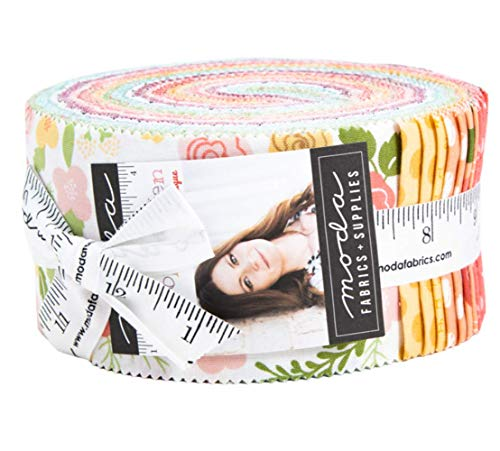 Lollipop Garden Jelly Roll 40 2.5-inch Strips by Lella Boutique for Moda Fabrics