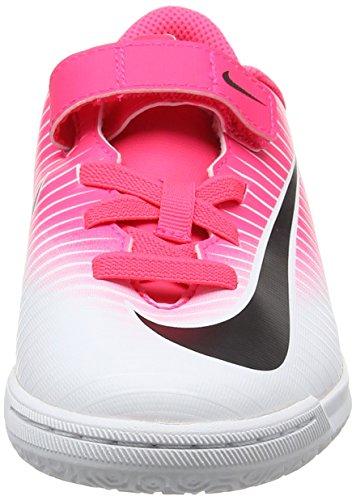 Nike Jr Mercurialx Vortex 3 (V) Ic, Botas de Fútbol Unisex Niños Rosa (Racer Pink/black White White)