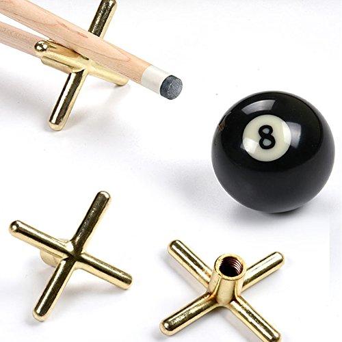 GOSONO New 2Pcs Brass Coated Metal Brass Bridge Head Pool Cue Stick Snooker Accessories Frame Pole Snooker Billards 9 -