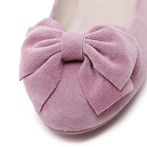 D2C Beauty Womens Bowknot Slip-On Flat Loafer Moccasins Pink 06OL89