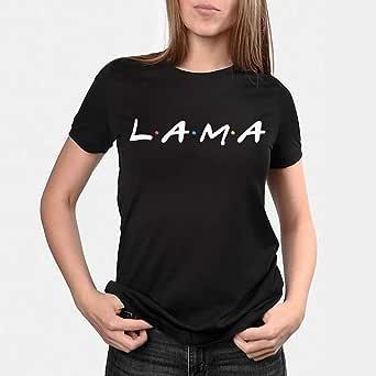 kharbashat Lama T-Shirt for Women, Size XS, Black