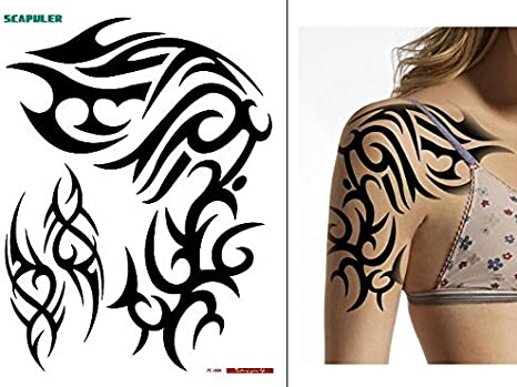 Tatuaje temporal para hombro o brazo tribal PC006: Amazon.es ...