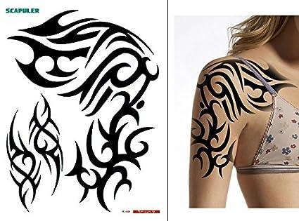 Tatuaje Temporal Para Hombro O Brazo Tribal Pc006 Amazones Belleza