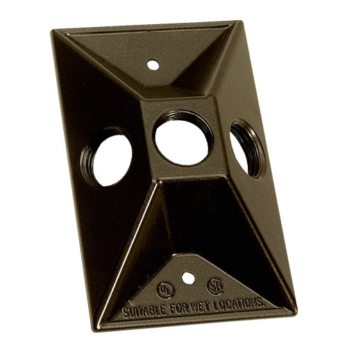 Rectangular Covers Light (Sigma Electric 14373BR 1/2-Inch 3 Hole 1-Gang Rectangular Lamp holder Cover, Bronze)