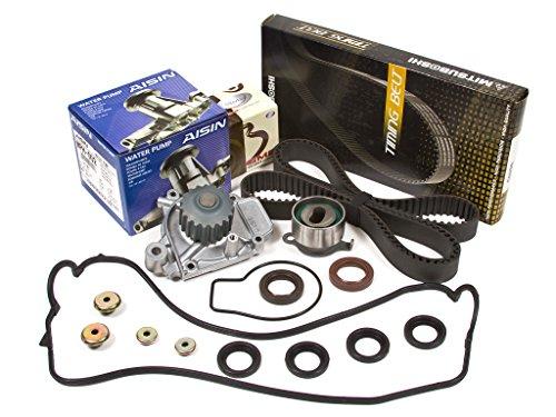 Evergreen TBK143MVCA 88-95 Honda Civic Del Sol CRX SOHC D15B Timing Belt Kit Valve Cover Gasket AISIN Water Pump