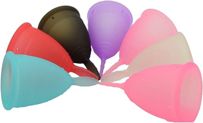 SPEQUIX 1 copa menstrual femenina de protección para la higiene de la mujer tamaño S de los períodos (azul)