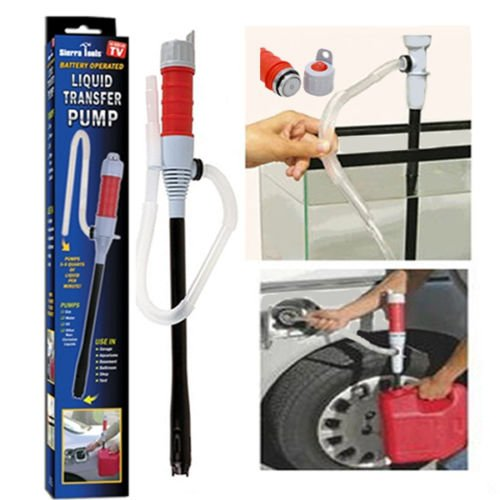Clearwater Liquid - Liquid Transfer Siphon Pump Battery Powered Gas Oil Water Fish Tank Bathroom NEW