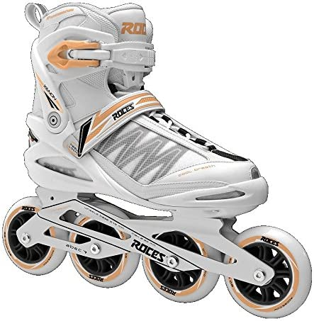 Roces 400818 Women s Model Xenon 2.0 Fitness Inline Skate, US 9, White Salmon
