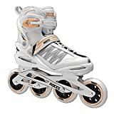 Roces 400818 Women's Model Xenon 2.0 Fitness Inline Skate, US 9, White/Salmon