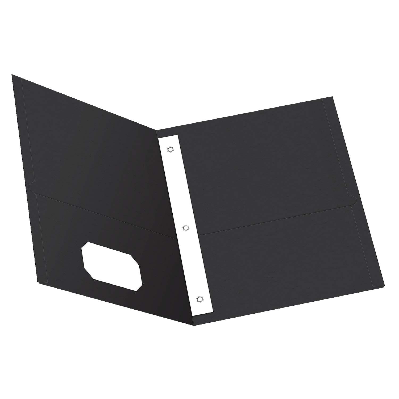 B0006HXCD4 Oxford Two-Pocket Folders w/Fasteners, Black, Letter Size, 25 per Box (57706) 51uRT2tBmbL