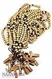 Dozen 12pcs Authentic Wooden Beads Jesus Rosaries Handmade Nazareth Holy Land