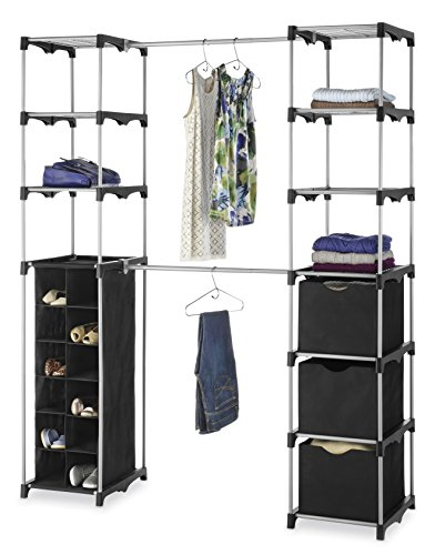 Whitmor Deluxe Double Rod Adjustable Closet Organization (Expandable Closet Organizer)