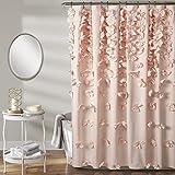 Blush Colored Shower Curtain Lush Decor Riley Shower Curtain, 72