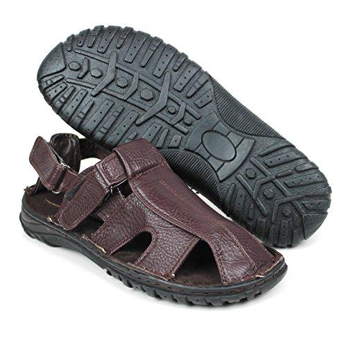 Labo Mens Äkta Läder Skor Ultra Komfort Mjuk Bred Brown5