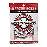 Independent Genuine Parts Cross Bolts Standard Phillips Skateboard Hardware (Black/Red, 7/8'')