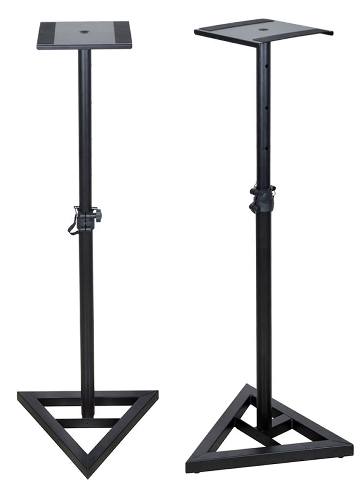 TMS Height Adjustable Studio Monitor Speaker Stand Pair Home Studio Concert Band DJ