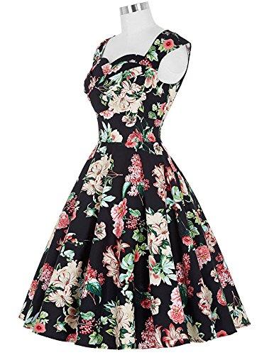 Yafex - Vestido para mujer Estilo 1 Floral A
