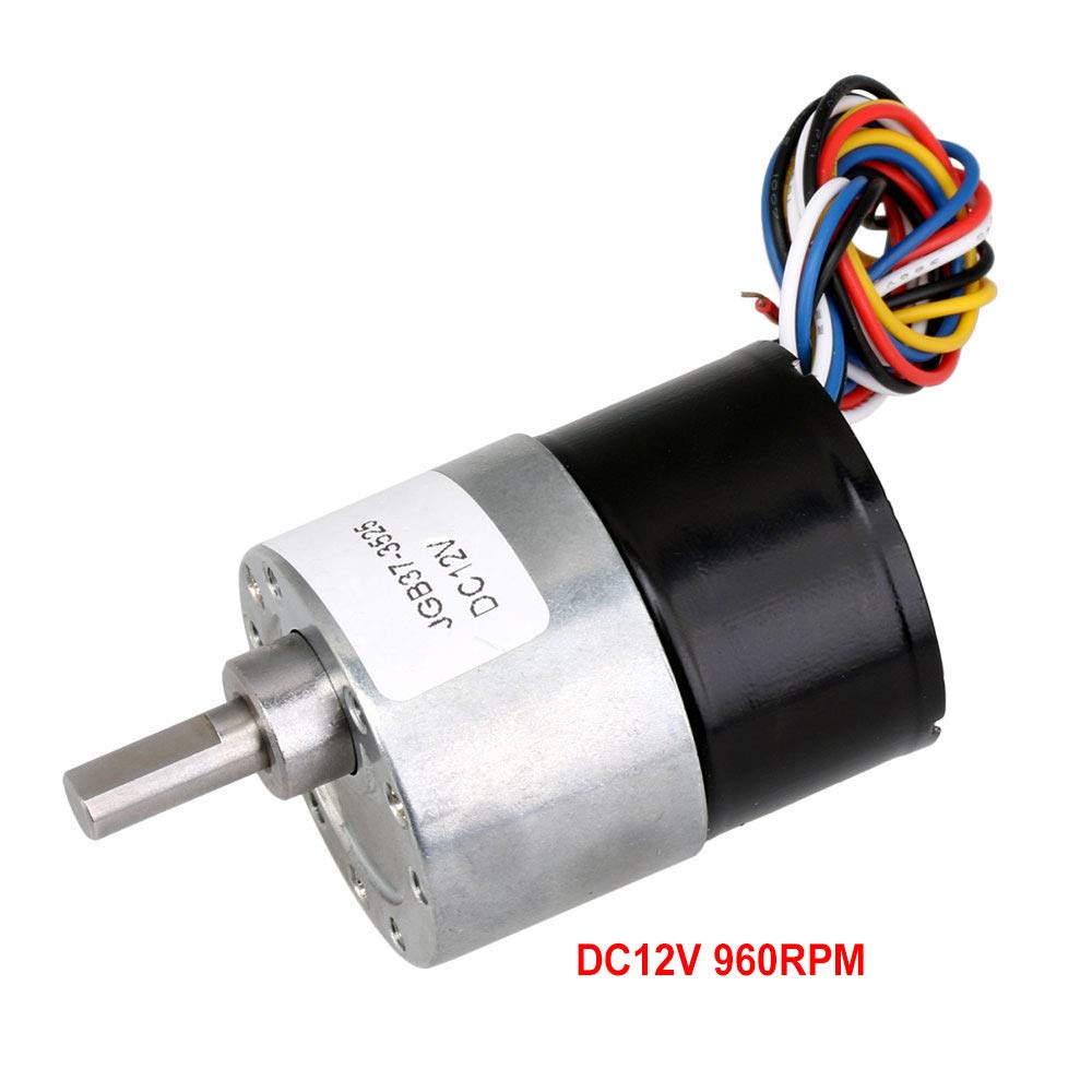 107rpm DC12//24V Electric Brushless Geared Motor Speed Reduction CW//CCW High Torque 12V, 7rpm