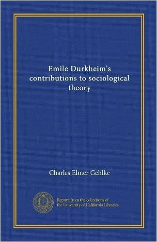 emile durkheim contribution in sociology