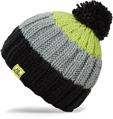 - Dakine Farley Beanie, Black/Hot Lime, One Size