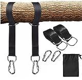 Tree Swing & Hammock Hanging Kit Straps Heavy Duty Carabiners Hook Easy & Fast Swing Hanger Installation Fits Hammocks & Most Swing Seats