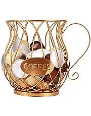 Ucisacolt Koffie Capsule Pod Opbergmand, Europese Stijl Smeedijzeren Holle Ontwerp, Aanrecht Keuken Opberghouder voor Tassimo, Nespresso, Dolce Gusto