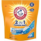 Arm & Hammer 2-IN-1 Laundry Detergent Power Paks, 97 Count, 3.84 Pound (Packaging May Vary)