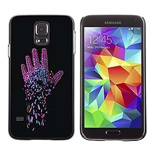MEIMEIGagaDesign Phone Accessories: Hard Case Cover for Samsung Galaxy S5 - Neon Pink HandMEIMEI