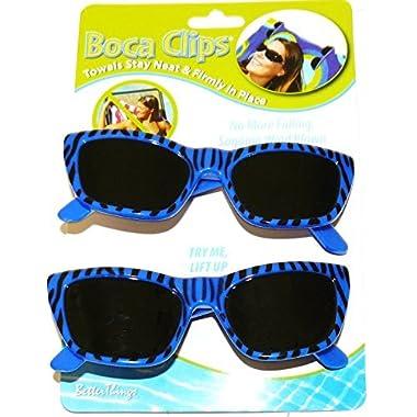 Boca Clips 2-pc. Sunglasses Beach Towel Clip Set No Sz Blue